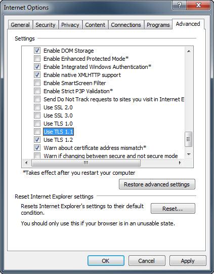 Screenshot from Internet Explorer